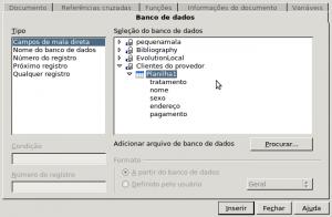Figura 11 - Campos/Banco de dados