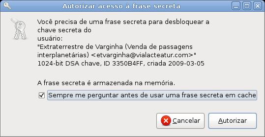 11 - Autorização de acesso ao cache de senhas do Gnome